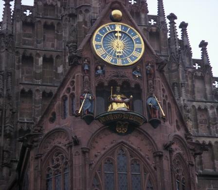 Mechanizm zegarowy w Norymberdze