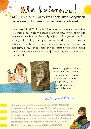 strona z przewodnika po wystawie Zofii Stryjeńskiej