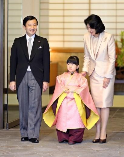 Księżniczka Aiko w kimonie
