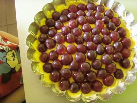 Winogronowe kulki w naszym placku