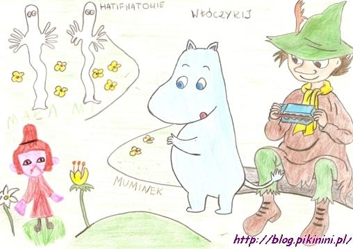 Rysunek z Muminkami