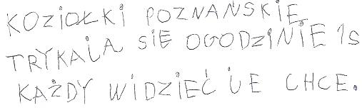 Krótki wiersz o poznańskich koziołkach