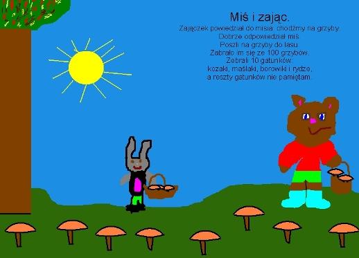 miś i zając - ilustracja