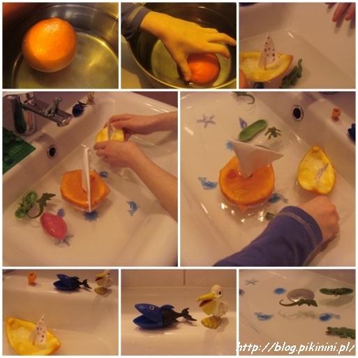 Łódki z pomarańczy