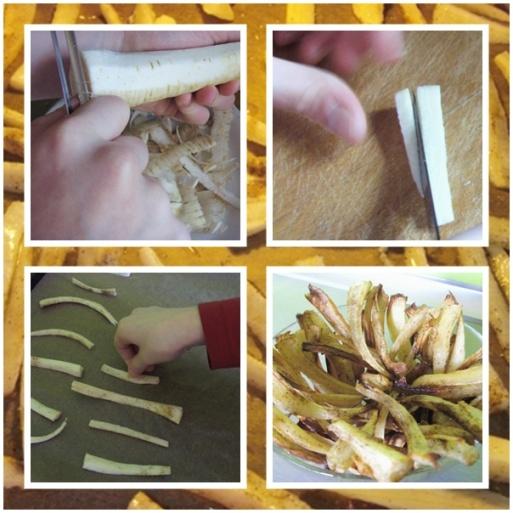 Chipsy z pietruszki