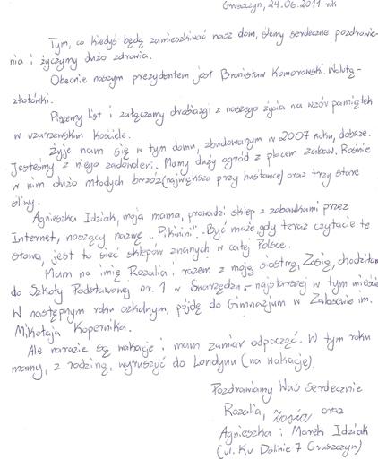 list Rozalki