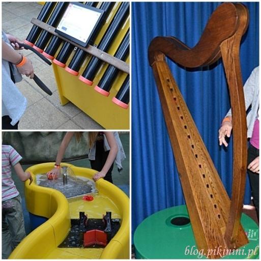 Laserowa harfa, tuby i woda