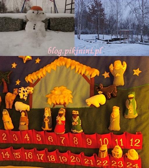 Pierwszy śnieg i kalendarz adwentowy
