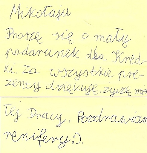 list do św Mikołaja