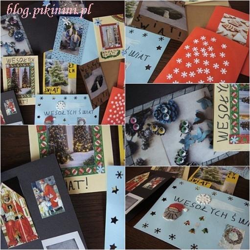 Świąteczne kartki bożonarodzeniowe handmade