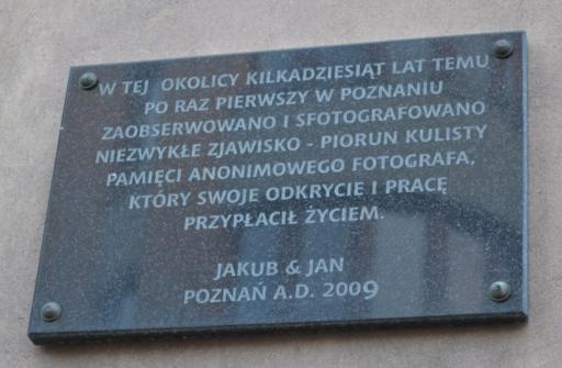 Piorun kulisty w Poznaniu