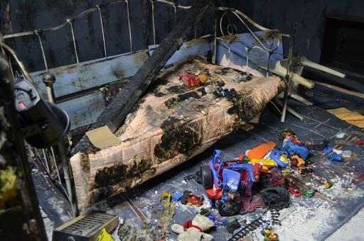 Po pożarze pokoju dziecięcego