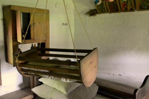 Wnętrze chaty w Sanoku