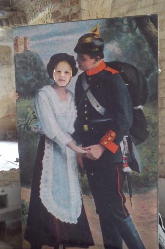 Dziewczyna i żołnierz