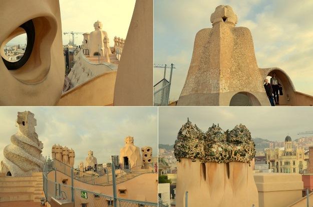 Z dachu Casa Mila