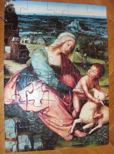 Madonna z Dzieciątkiem i barankiem