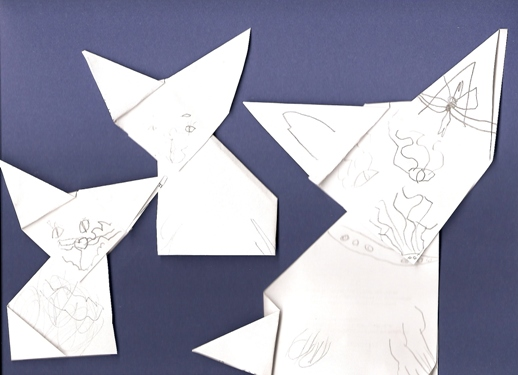 Kocie origami
