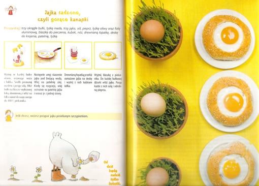 Przepis na jajka sadzone Cecylki Knedelek