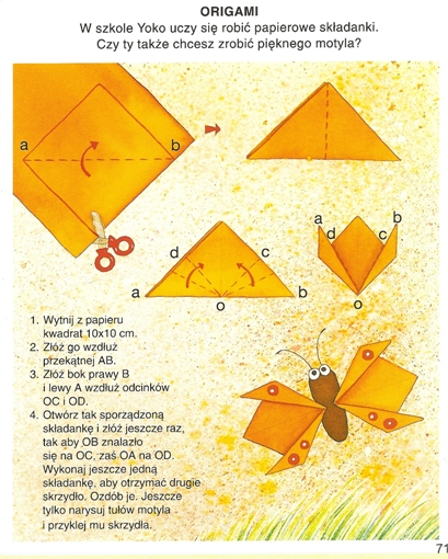 Origami - motyl