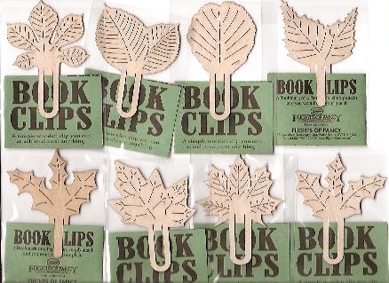 Drewniane liście - zakładki do książek