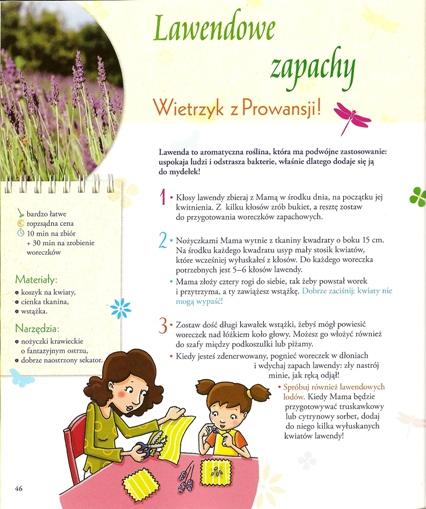 """Przepis na lawendowe zapach z książki """"Ogród warzywny"""""""