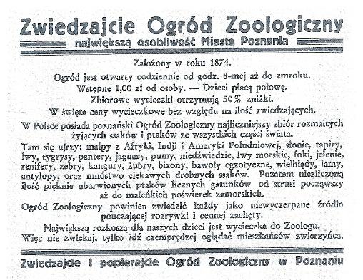 Zwiedzajcie Ogród Zoologiczny