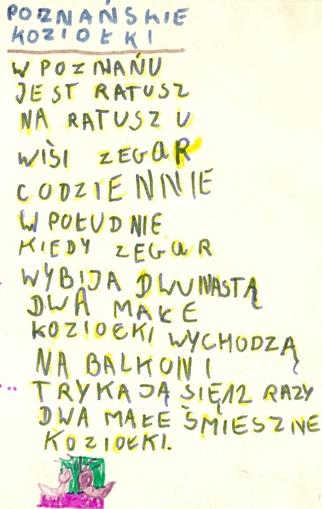 wiersz o poznańskich koziołkach