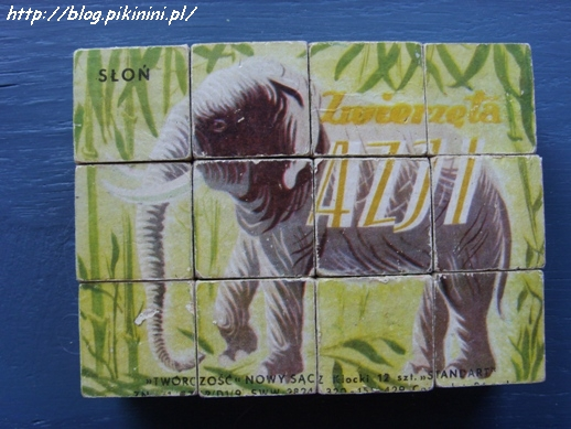 Klocki ze słoniem