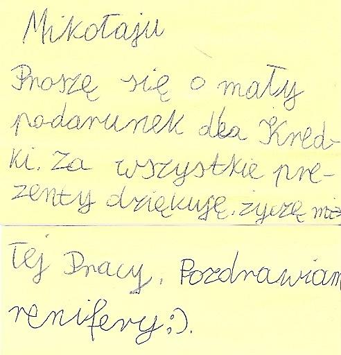 list do św Mikołaja