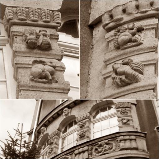 Dekoracja szkoły przy ulicy Różanej w Poznaniu