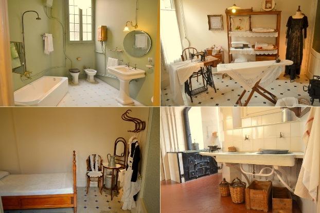 Pomieszczenia dla służby w Casa Mila