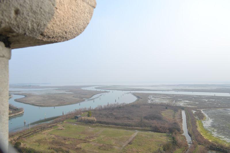 Widok z campanilli w Torcello